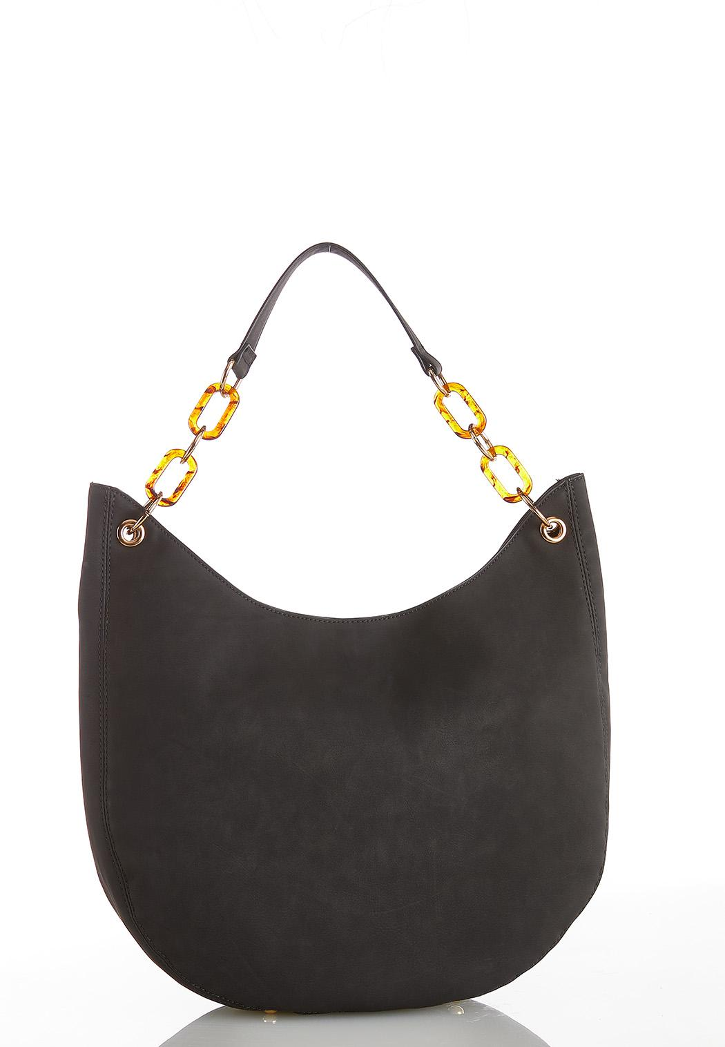 Tortoise Link Hobo Handbag