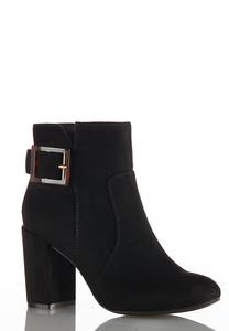 Tort Buckle Ankle Boots
