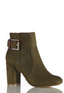 Wide Width Tort Buckle Ankle Boots