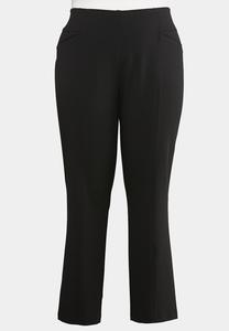 Plus Size Twill Straight Leg Pants