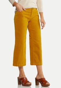 Corduroy Cropped Pants