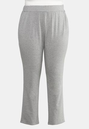 Plus Size Gray Pull- On Pants