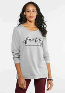 Plus Size Move Mountains Graphic Top