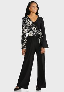 Plus Size Status Flare Sleeve Jumpsuit