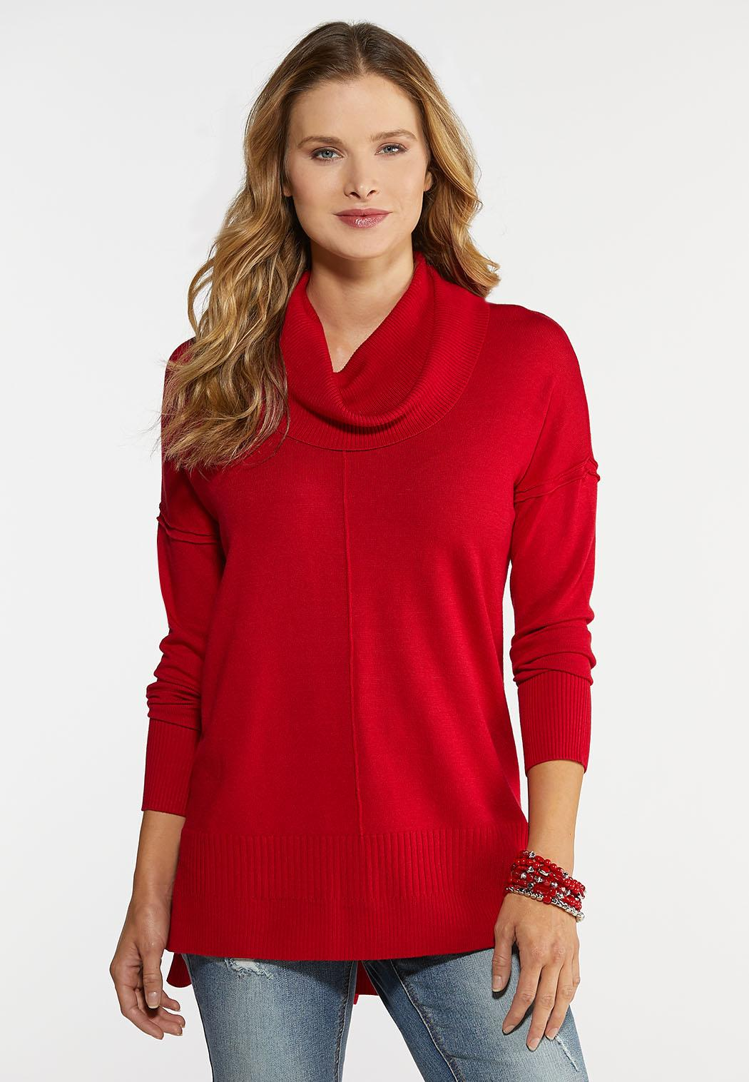 Plus Size Solid Cowl Tunic
