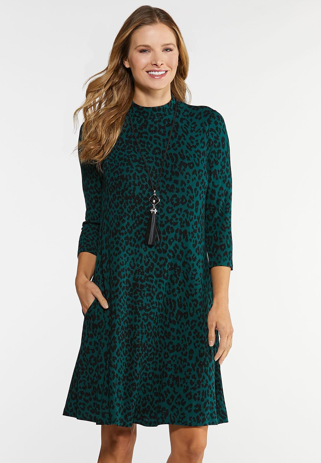 Plus Size Leopard Swing Dress Plus Sizes Cato Fashions