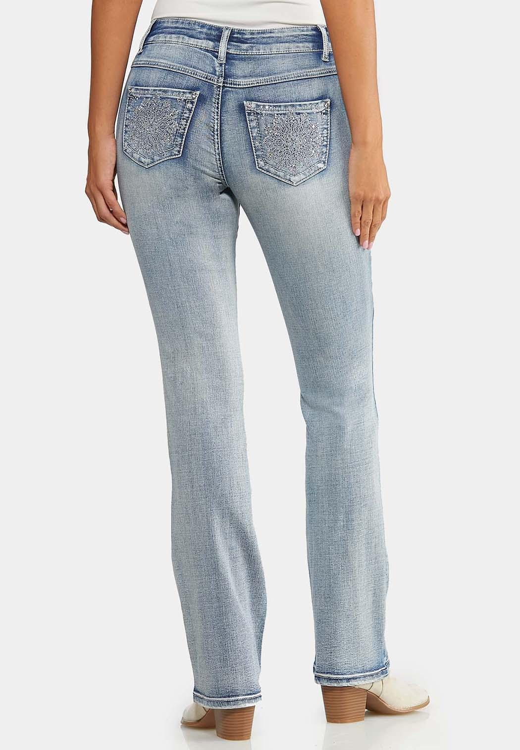 Petite Sparkling Embroidered Jeans