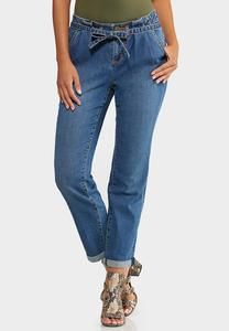 Paperbag Waist Girlfriend Jeans