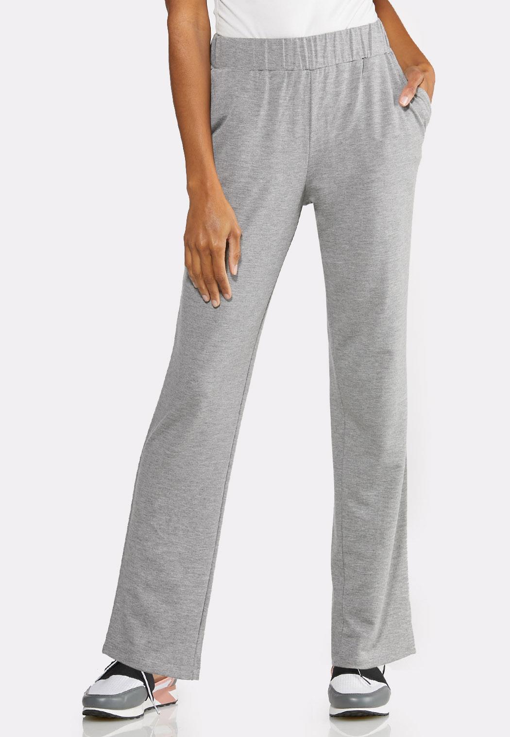 Gray Pull-On Pants