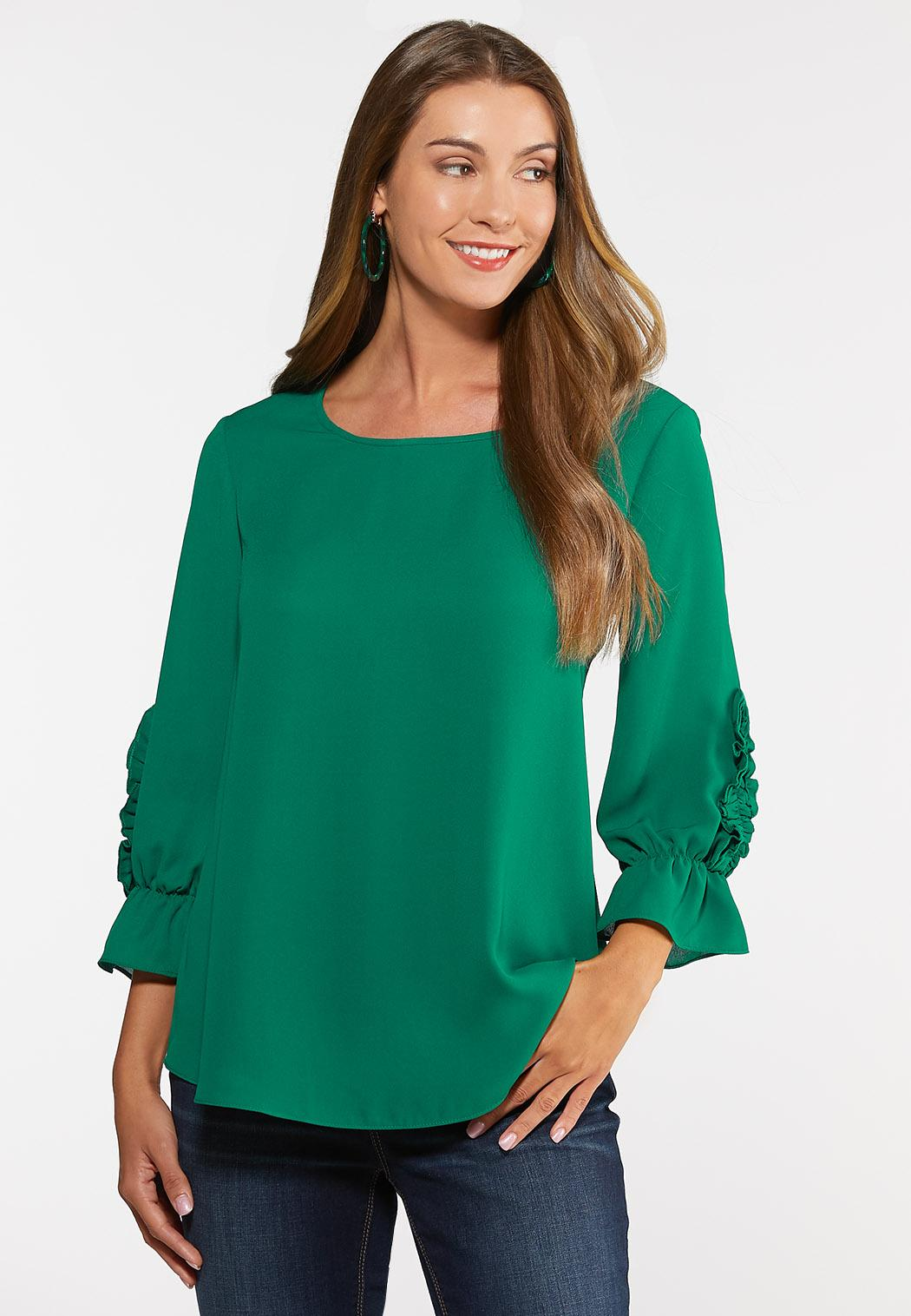 ea41afdb47a Plus Size Ruffle Sleeve Top