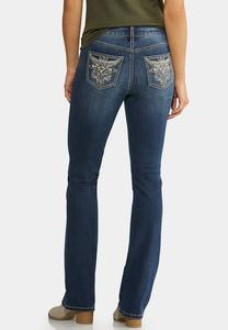 Studded Pocket Bootcut Jeans