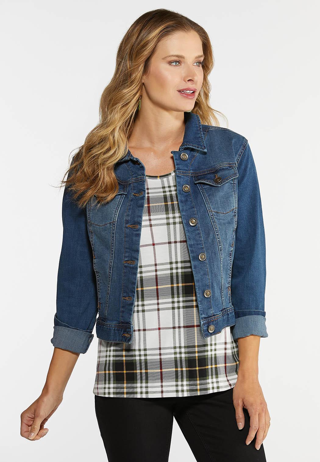 Plus Size Essential Denim Jacket