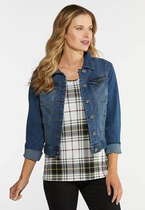 Plus Size Essential Denim Jacket