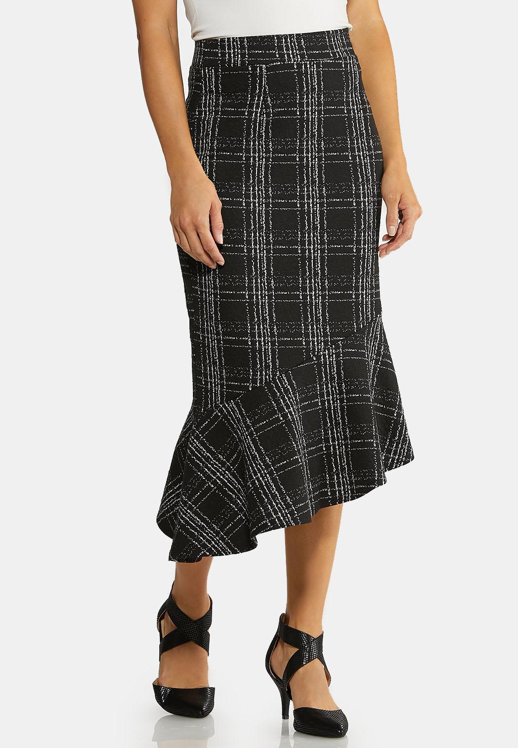 Menswear Flounced Skirt