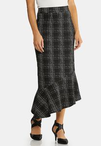 Plus Size Menswear Flounced Skirt