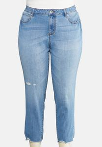 Plus Size Girlfriend Distressed Jeans