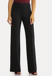 Petite Wide Leg Ponte Pants