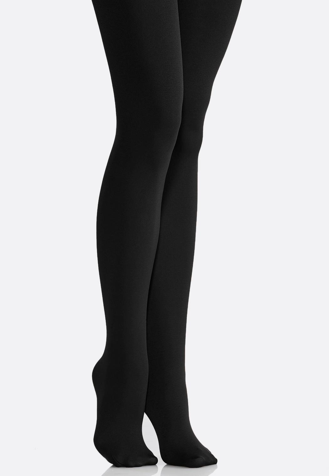 Plus Extended Fleece Lined Tights
