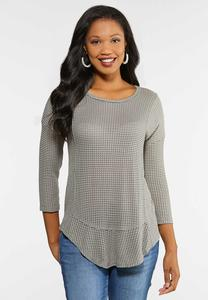 Plus Size Textured Swing Top