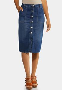 Women\'s Plus Size Denim Skirts