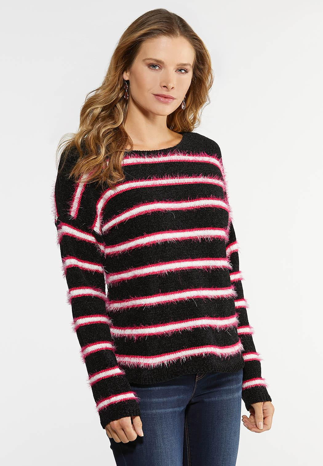 Fringe Stripe Sweater
