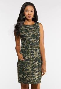 Plus Size Camo Print Dress