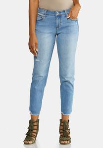 Girlfriend Distressed Jeans