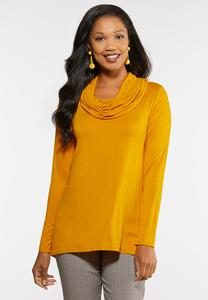 High Low Cowl Neck Top