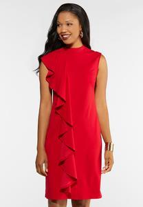 Ruffle Sheath Dress