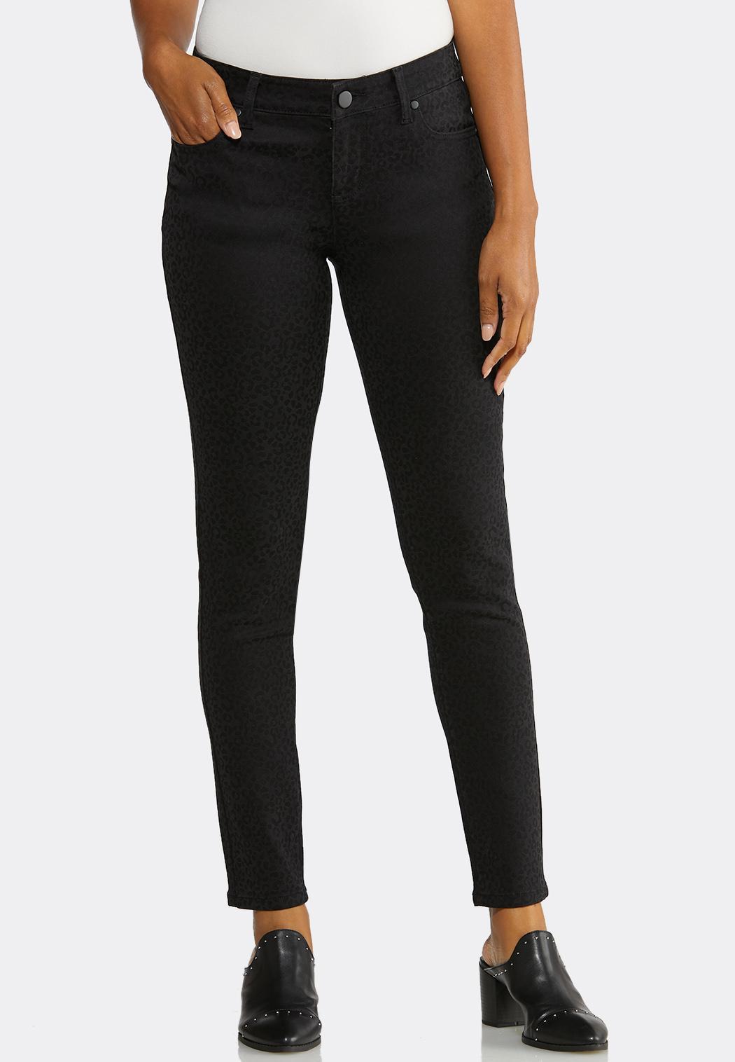 Tonal Leopard Jeans