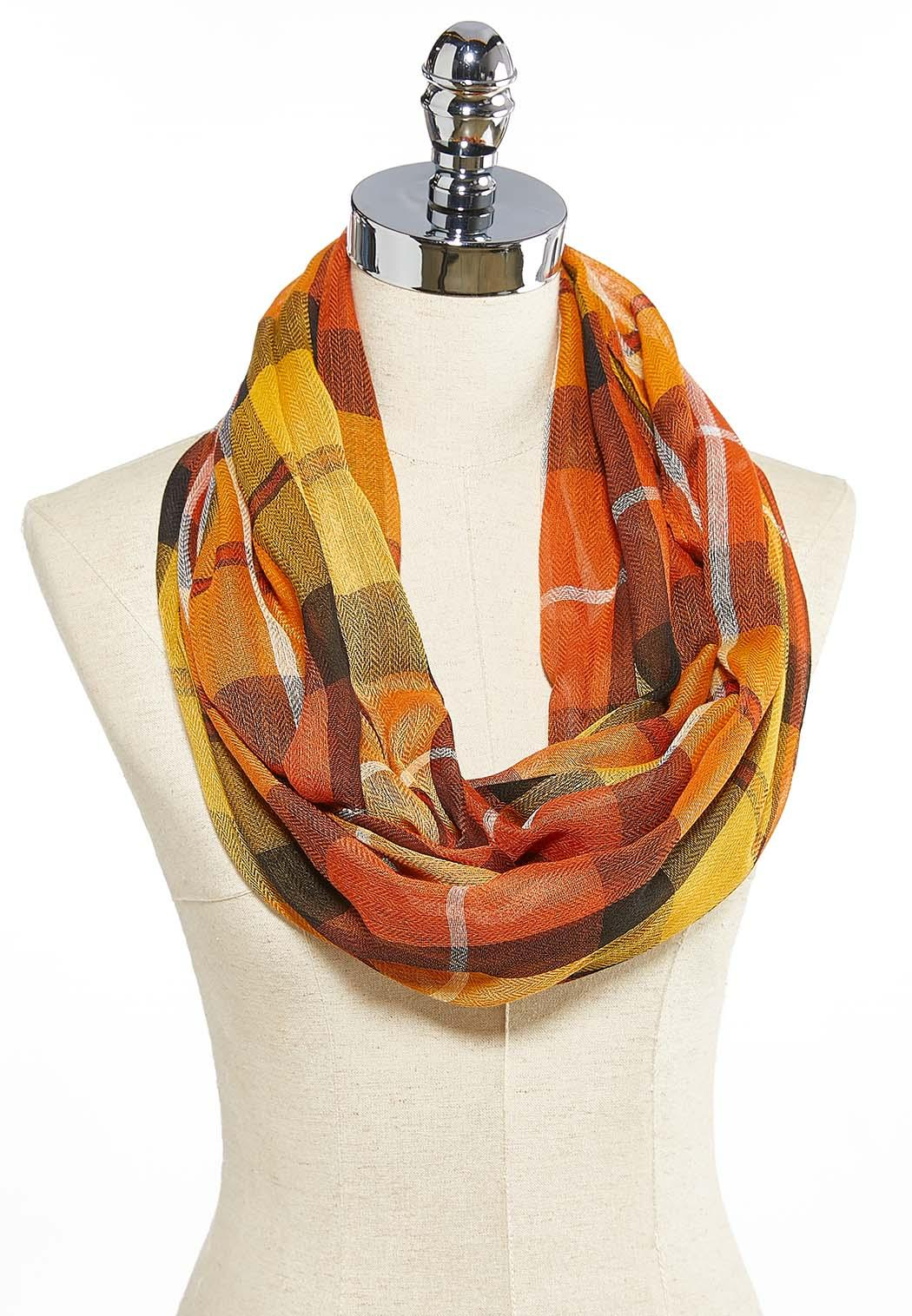 Colorful Plaid Infinity Scarf