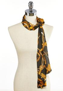 Status Print Silky Oblong Scarf