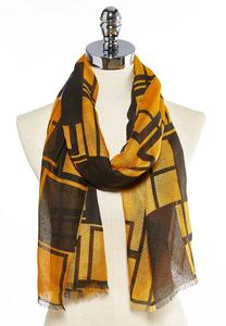 Colorblock Geo Oblong Scarf