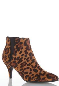 Wide Width Leopard Booties