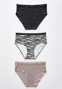 Plus Size Abstract High Waist Panty Set