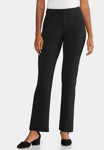 Petite Twill Straight Leg Pants