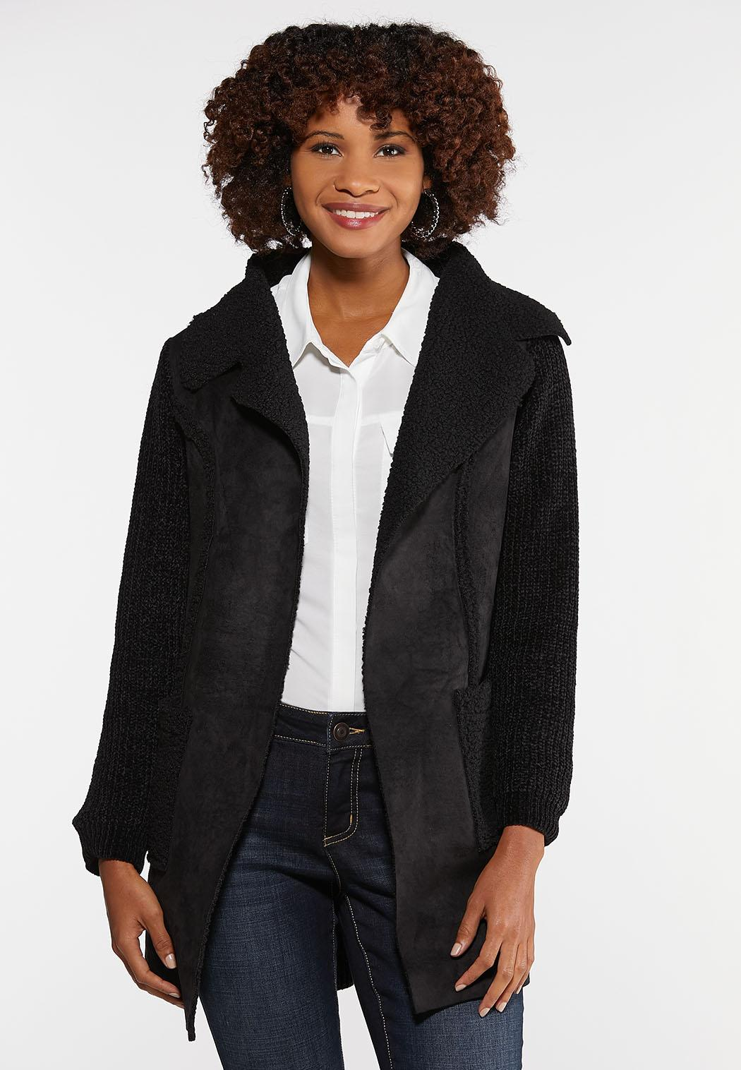 Sherpa Lined Chenille Jacket
