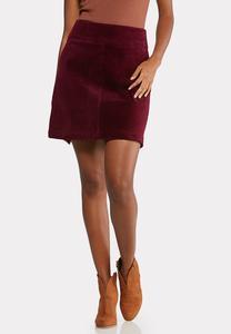 Corduroy Mini Skirt