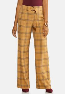 Menswear Plaid Wide Leg Pants