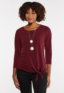 Plus Size Crepe Tie Top