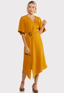 Gold Belted Dress