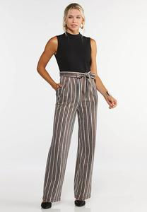 Plus Size Striped Leg Jumpsuit