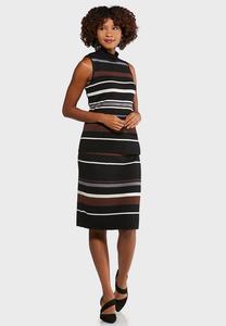 Striped Sweater Dress Set