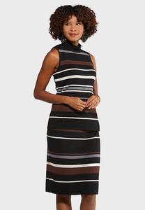 Striped Sweater Dress Set