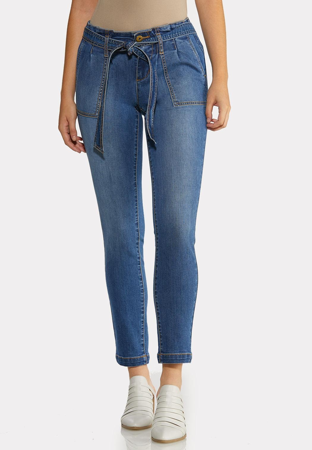 Paperbag Tie Waist Jeans