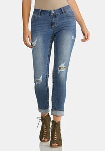 Camo Patch Skinny Jeans