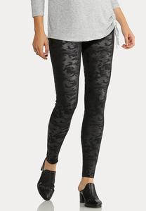 Coated Camo Leggings