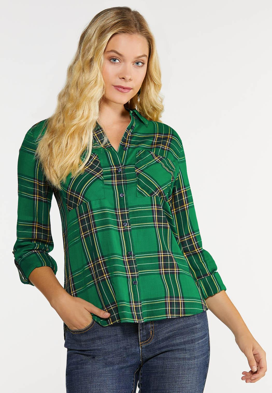 Plus Size Forest Plaid Shirt