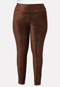 Plus Size Corduroy Leggings