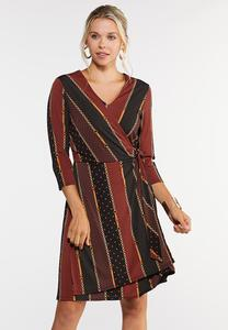 Plus Size Status Dot Wrap Dress
